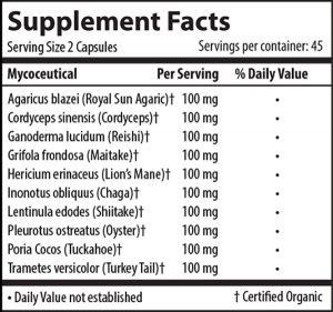 Immune defense supplement facts